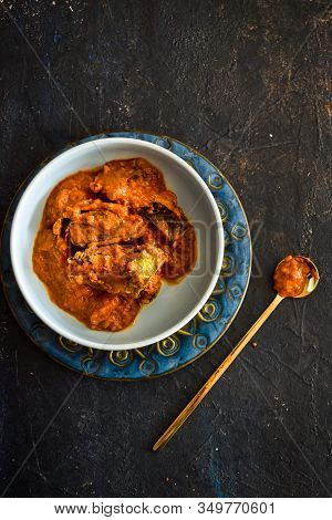 Tasty Butter Chicken Curry Or Chicken Tikka Masala With Gravy, Popular Indian Curry In Uk, Tradition