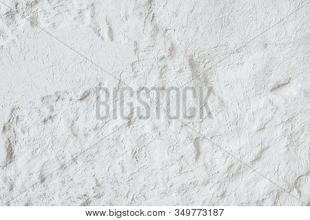White Background. Textured Wall. Smeared Cement Effect.