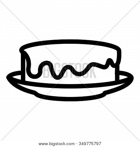 Honey Pie Icon Vector. Thin Line Sign. Isolated Contour Symbol Illustration
