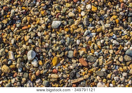 Colorful Shoreline Stones Background Texture Wallpaper Pattern Surface From Abovecolorful Shoreline