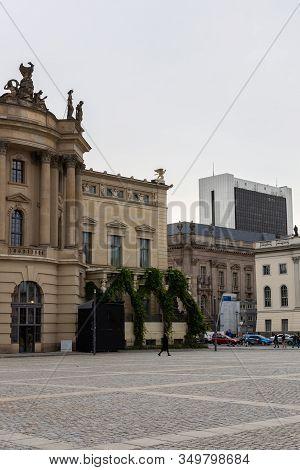 Berlin, Germany- October 7, 2019: The Bebelplatz, Alte Bibliothek Of The Humboldt University Law Fac
