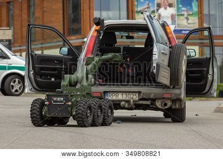 Arlamow, Poland - May, 2019: Robot Ibis, Designed For Pyrotechnic Operations And Reconnaissance, Usi