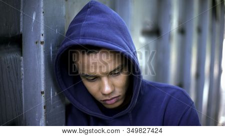 Racial Discrimination, Mixed-race Guy Suffering From Bullying, Cruel Youth