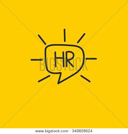 Hand Drawn Hr Icon, Human Recource Doodle Vector Logo