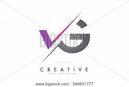 Vg V G Letter Logo With Colorblock Design And Creative Cut. Creative Logo Design.