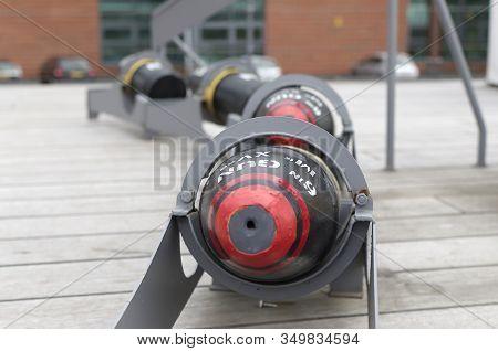 Bombs On Old First World War Battleship