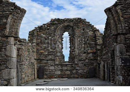Old Glendalough Cathedral Ireland Cemetery Ruins