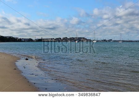 Malahide Beach City View Dublin Ireland