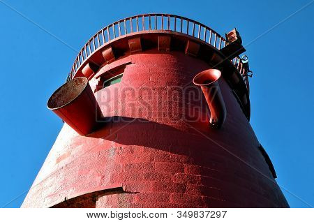 Detail Of Poolbeg Lighthouse Dublin Port