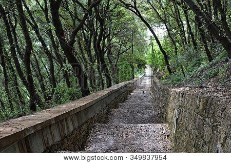 Part Of Long Phoenix Walking Path At Capri Island In Italy