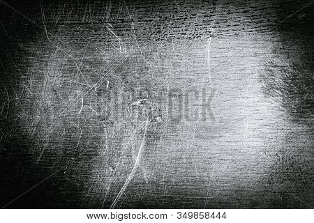 Scratched Dirty Dusty Copper Plate Texture, Old Metal Background. Cloudy And Scratchy Brass. Toned B