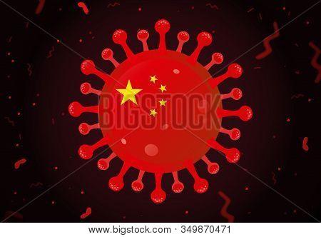 Dangerous Chinese Cov Flue Cell Flat Illustration