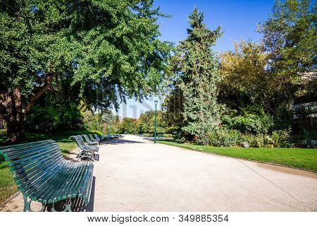 Gardens Of The Champs Elysees In Paris, France