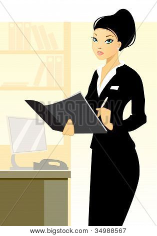 Young Secretary In Office