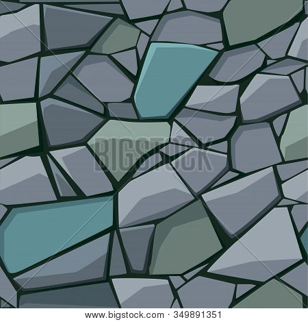 Seamless Gray Texture Or Pattern Of Paving Stones And Cobblestones.