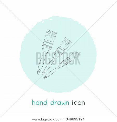 Straight Edge Brush Icon Line Element. Vector Illustration Of Straight Edge Brush Icon Line Isolated