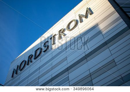 Ottawa, Ontario, Canada - February 5, 2020: The Logo Of The Nordstrom Inc. (nyse: Jwn) Chain Of Luxu