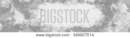 Grange Background. Grunge Texture. Old Surface. Banner For The Site. Text Field. Shades Of Gray.