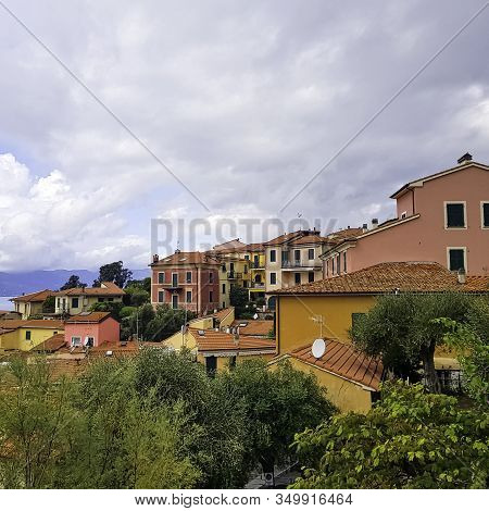 Tellaro, Cinque Terre, Liguria, Italy - September 23: Colorful Architecture Of Small Fishing Village