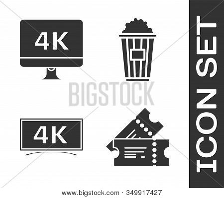 Set Cinema Ticket , Computer Pc Monitor With 4k Video Technology , Screen Tv With 4k Ultra Hd Video