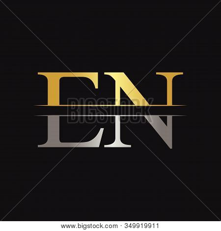 Initial En Letter Linked Logo Business Vector Template. Creative Letter En Logo Design