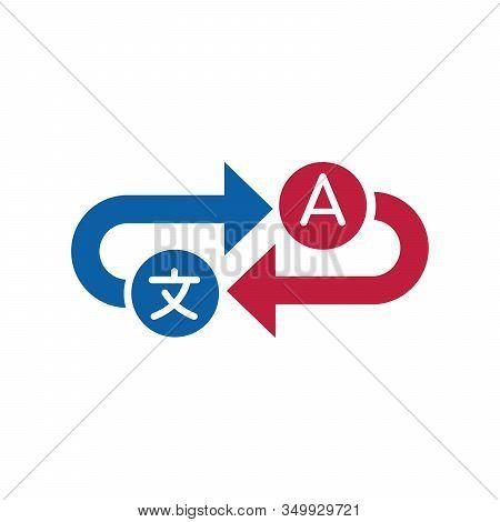 Translation Service Icon. Interpreter Communication Concept. Ditionary Symbol. Stock Vector Illustra