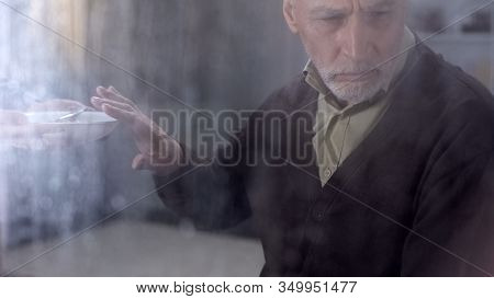Depressed Male Pensioner Refusing To Eat Porridge, Feeling Lonely In Hospice