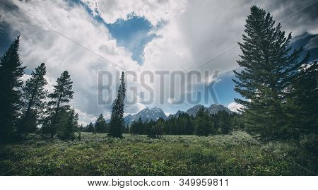 Grand Teton Range In Grand Teton National Park. Grand Teton National Park Is In Wyoming, Usa. Also,