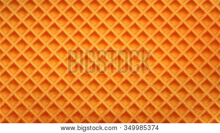 Wafer Cake Crunchy Classical Baked Waffle Vector. Blank Wafer Biscuit For Bake Cracker Or Ice Cream.