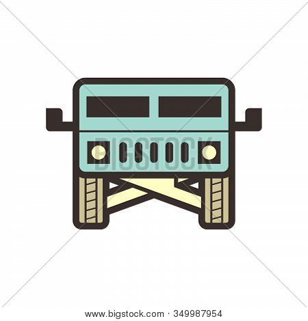Off Road Suv Vehicle Vector Icon Design.