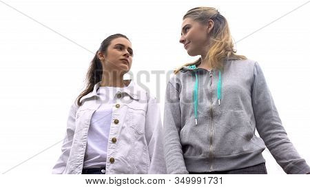 Two Females Looking At Each Other, Envy Problem, Woman Friendship Stereotype