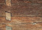 Old wooden house detail close-up old wood texture poster