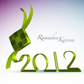 Vector 3D Muslim Ketupat 2012 Translation: Ramadan Kareen - May Generosity Bless You During The Holy Month poster