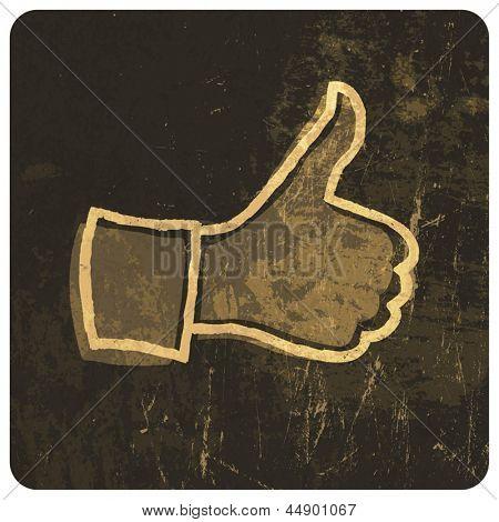 Grunge like symbol. Vector