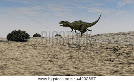 yangchuanosaurus hunting poster