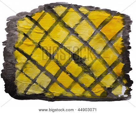 art yellow, black mesh watercolor isolated for your design