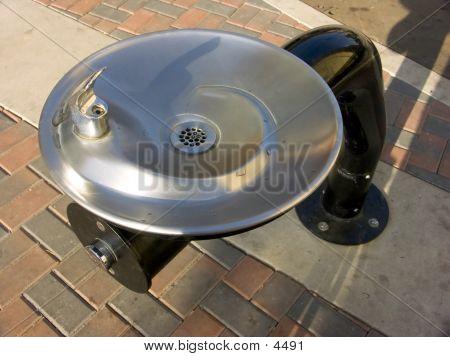 Silver & Black Water Fountain