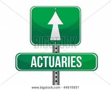 Actuaries Road Sign Illustration Design