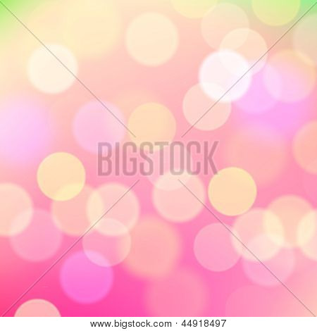 Abstract blurred pink background of holiday lights