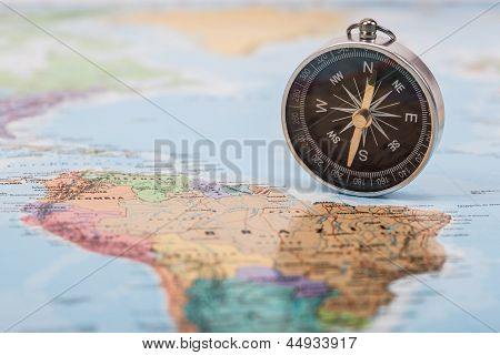 Map With Compass