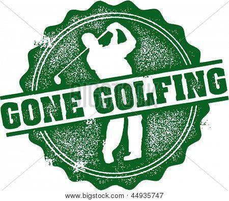 Gone Golfing Vintage Stamp