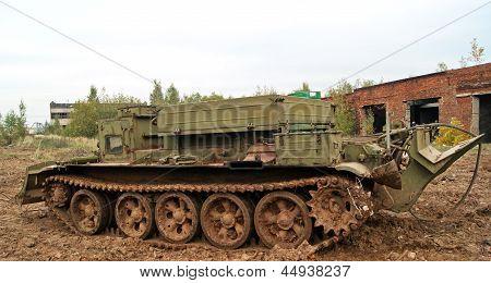 Alte Militärfahrzeug