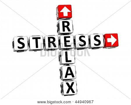 3D Relax Stress Crossword