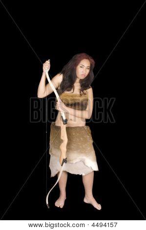 Beautiful Young Asian Hunteress