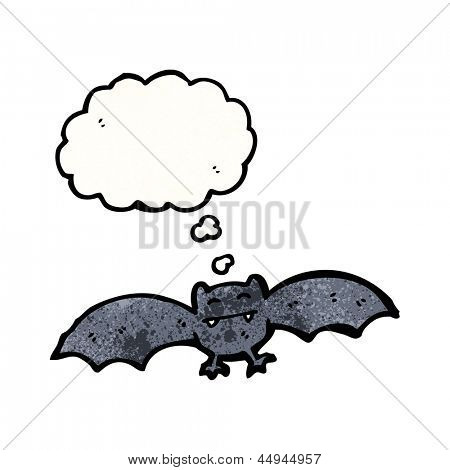 halloween bat with thought bubble poster