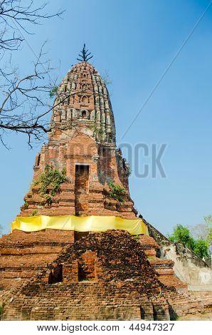 Old Brick Pagoda In Thailand