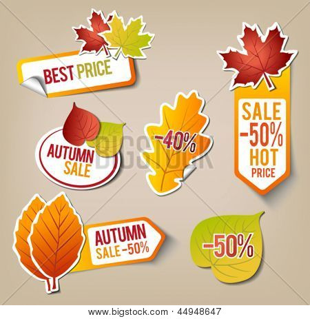 Collection of Autumn Sale Stickers