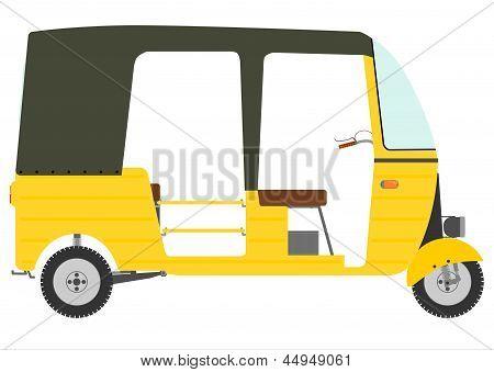 Three Wheeled Motor Rickshaw.
