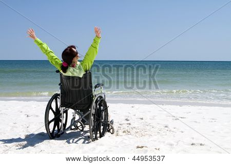 Woman Successful Disabled