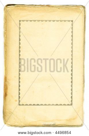 Old Book Paper With Retro Frame